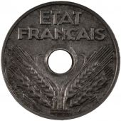 French State, 20 Centimes in iron type