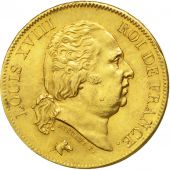 Louis XVIII, Second Gouvernement Royal, 40 Francs or 1818 Lille, KM 713.6