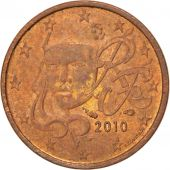 V�me R�publique, 1 Centime d'Euro faut� Double Face Nationale 2010