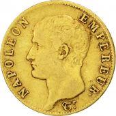 Premier Empire, 20 Francs Or Napol�on Ier t�te nue 1806 Paris, KM 674.1