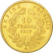 Second Empire, 10 Francs Or Napol�on III grand module 1857 Paris, KM 784.3