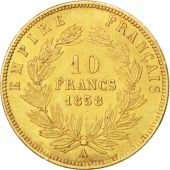 Second Empire, 10 Francs Or Napol�on III grand module 1858 Paris, KM 784.3