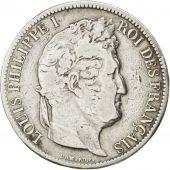 Louis Philippe Ier, 5 Francs t�te laur�e 1831 Lille tranche en relief, KM 745.13