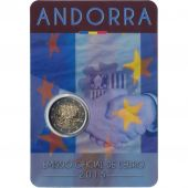 Andorra, Coincard, 2 Euro Accords Douaniers, 2015, MS(65-70), Bi-Metallic