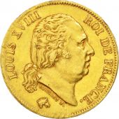 Louis XVIII, 40 Francs Or 1819 Lille, KM 713.6