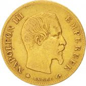 Second Empire, 10 Francs Or Napol�on III t�te nue 1859 Strasbourg, KM 784.4