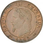 Second Empire, 1 Centime Napoléon III tête laurée 1862 Bordeaux, KM 795.3
