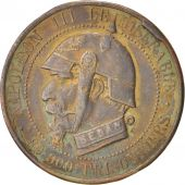 Second Empire (1852-1870), Module de 5 Centimes satirique, Napoléon III avec un casque prussien