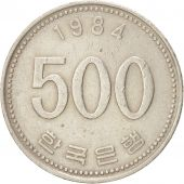 KOREA-SOUTH, 500 Won, 1984, KM:27, TTB, Copper-nickel, 26.5