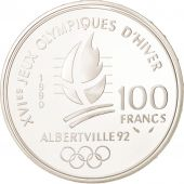 France, 100 Francs, 1990, SPL+, Silver, KM:981