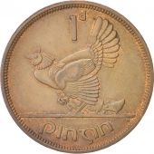 IRELAND REPUBLIC, Penny, 1946, MS(60-62), Bronze, KM:11