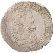 FRENCH STATES, BURGUNDY, Philip IV, 1/4 Ducaton, 1622, Dôle, EF(40-45), Silver
