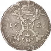 FRENCH STATES, BURGUNDY, Philip IV, Patagon, 1625, Dôle, VF(30-35), Silver,KM:15