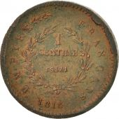 France, Napoleon II, 1 Centime, 1816, Brussels, MS(60-62), Bronze, Gadoury:78