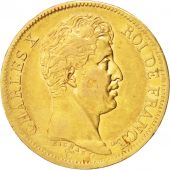 France, Charles X, 40 Francs, 1824, Paris, TB+, Gold, KM:721.1, Gadoury 1105