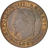 France, Napoleon III, Centime, 1862, Bordeaux, AU(55-58), Bronze, KM 795.3