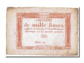 1000 Francs type Domaines Nationaux, signed by Bert