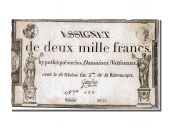 2000 Francs type Domaines Nationaux, signed by Gaudet