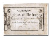 2000 Francs type Domaines Nationaux, signed by Denis