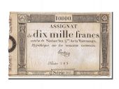 10 000 Francs type Domaines Nationaux, signed by Poullain