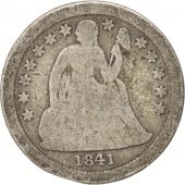 États-Unis, Seated Liberty Dime, 1841, New Orleans, B+, Silver, TTB, KM 63.2