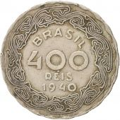 Brésil, 400 Reis, 1940, TTB, Copper-nickel, KM:547
