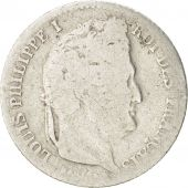 France, Louis-Philippe, 1/4 Franc, 1831, Lille, VG(8-10), Silver, KM:740.13