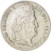 France, Louis-Philippe, 1/4 Franc, 1842, Paris, AU(50-53), Silver, KM:740.1
