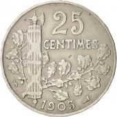France, Patey, 25 Centimes, 1905, TB+, Nickel, KM:856, Gadoury:364