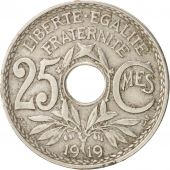 France, Lindauer, 25 Centimes, 1919, TB, Copper-nickel, KM:867a, Gadoury:380