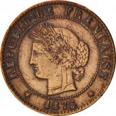 France, Cérès, Centime, 1875, Paris, EF(40-45), Bronze, KM:826.1, Gadoury:88