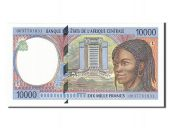 Gabon, 10 000 Francs type 1994
