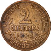 France, Dupuis, 2 Centimes, 1904, Paris, TTB, Bronze, KM:841, Gadoury:107