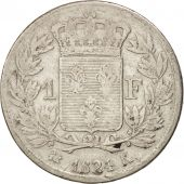 France, Louis XVIII, Franc, 1824, Bordeaux, F(12-15), Silver, KM 709.6