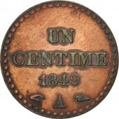 France, Dupré, Centime, 1849, Paris, TTB, Bronze, KM:754, Gadoury:84