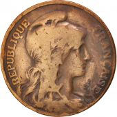 France, Dupuis, 10 Centimes, 1901, Paris, B, Bronze, KM:843, Gadoury:277