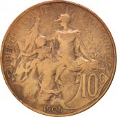 France, Dupuis, 10 Centimes, 1905, Paris, TB, Bronze, KM:843, Gadoury:277