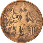 France, Dupuis, 10 Centimes, 1906, Paris, TB+, Bronze, KM:843, Gadoury:277