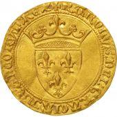 France, Charles VI, Ecu dor 2nd Emission, AU (55-58), Gold, Duplessy:369A