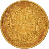 France, Napoleon III, 10 Francs, 1854, Paris, EF(40-45), Gold, KM 784.2