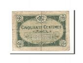 France, Nevers, 50 Centimes, 1920, TB, Pirot:90-18