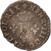 France, Liard à la Croix de Malte, 1584, Paris, TB, Billon, Sombart:4310