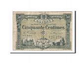 France, Nevers, 50 Centimes, 1920, TB+, Pirot:90-18