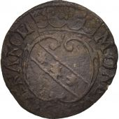 France, Lorraine, Charles IV, Denier, Nancy, TTB, Billon, Boudeau:1556