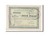 France, La Capelle, 2 Francs, 1915, AU(55-58), Pirot:02-399
