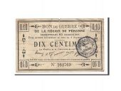France, Peronne, 10 Centimes, 1915, VF(30-35), Pirot:80-411