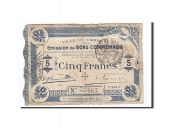 France, Cambrai, 5 Francs, 1914, VF(20-25), Pirot:59-450