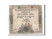 France, 15 Sols, 1792, 1792-01-04, Buttin, KM:A54, TB, Lafaurie:149