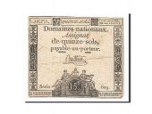 France, 15 Sols, 1792-01-04, Buttin, KM:A54, TB, Lafaurie:149