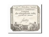 France, 50 Sols, 1793, 1793-05-23, Saussay, KM:A70b, SUP, Lafaurie:167